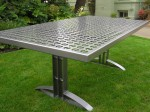 Outdoor Table - Reclaimed steel with powder coat finish