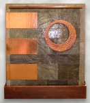 Stone and copper. 5'w x 6'h