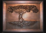 """Tree of Life"" Hammered copper with patina. 69″ x 54″ x 4″"